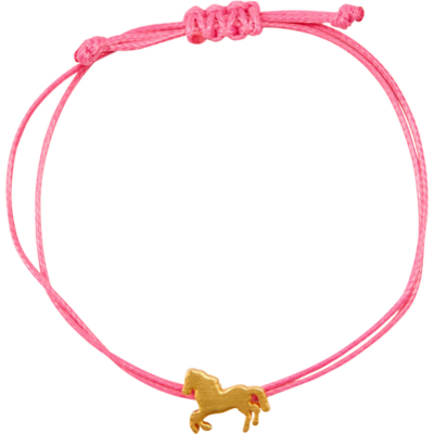 rosa Armband trend Pferdefreunde (Polyester/Messing)