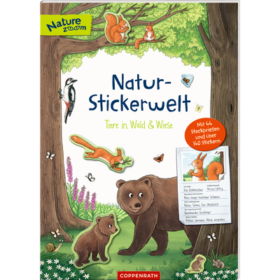 Natur-Stickerwelt: Tiere in Wald & Wiese (Nature Zoom)