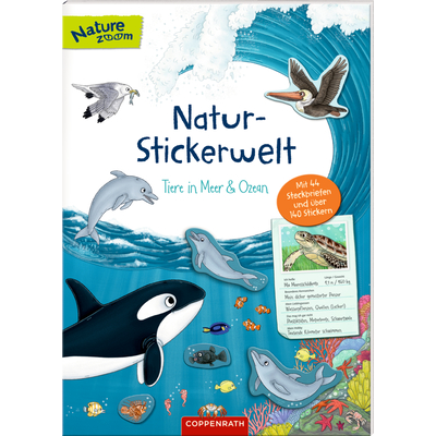 Natur-Stickerwelt: Tiere in Meer & Ozean (Nature Zoom)