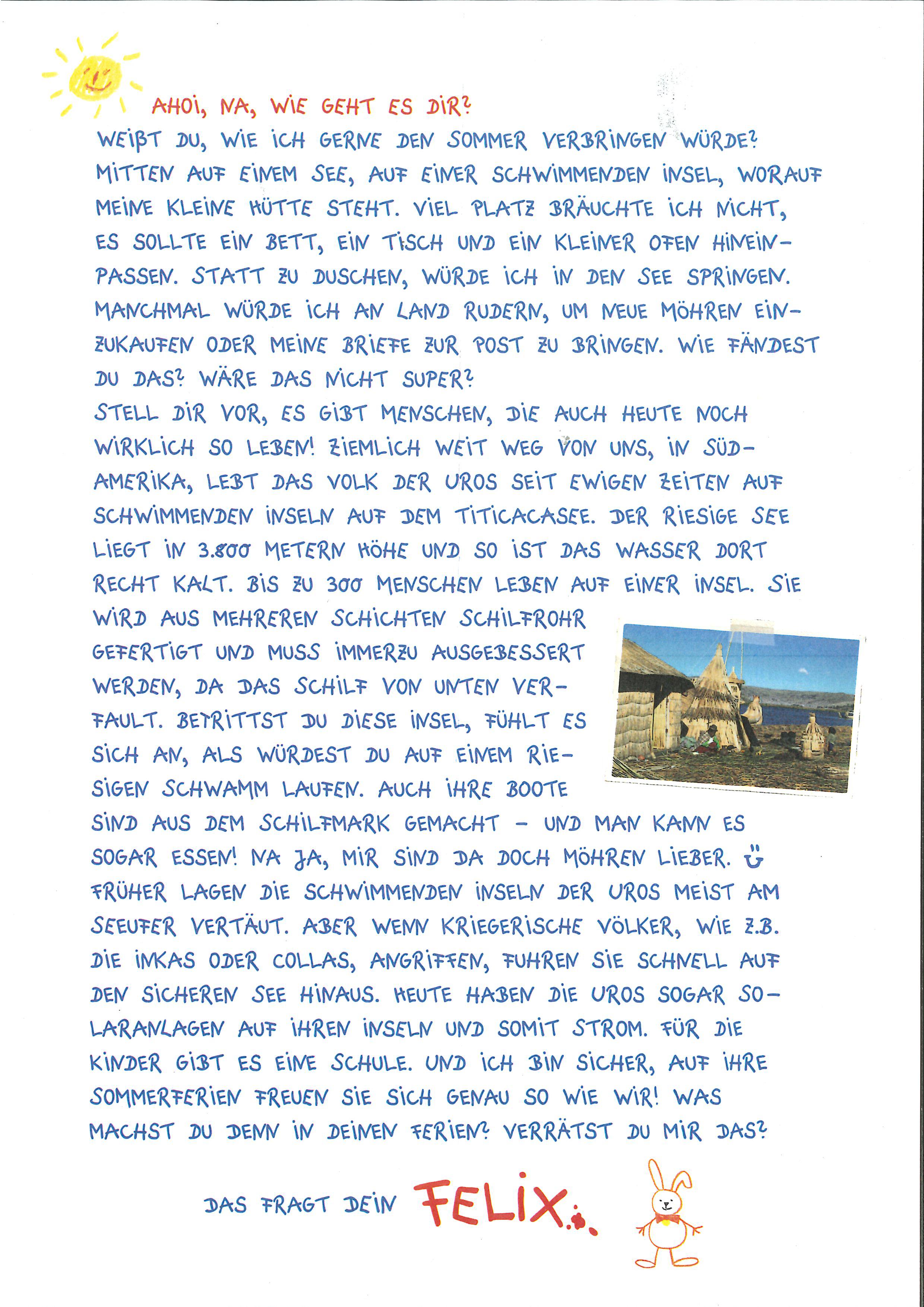 Briefe von Felix   Coppenrath Verlag   Die Spiegelburg   Hölker Verlag